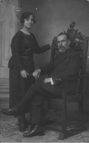 Antonio Quijano Gómez y Abuela Pepa, 1925