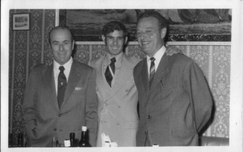 Joaquín Quijano Párraga con Ruiz Miguel y Antonio Ortega, 1970